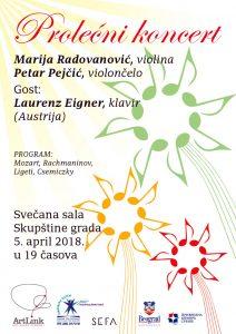 Prolecni koncert, Marija Radovanovic, Petar Pejcic, Laurenz Eigner