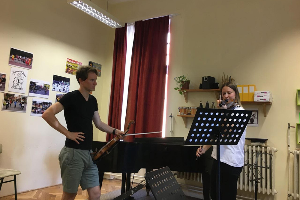 Majstorski kurs: Josef Špaček, violina, Kapoš fest, Mađarska